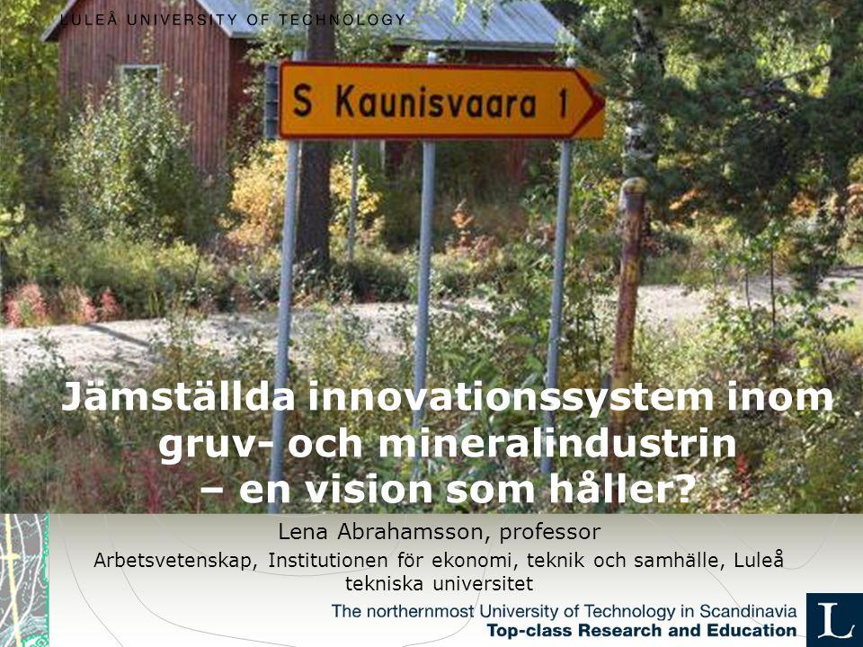 Jämställda innovationssystem inom gruv- och mineralindustrin – en vision som håller.