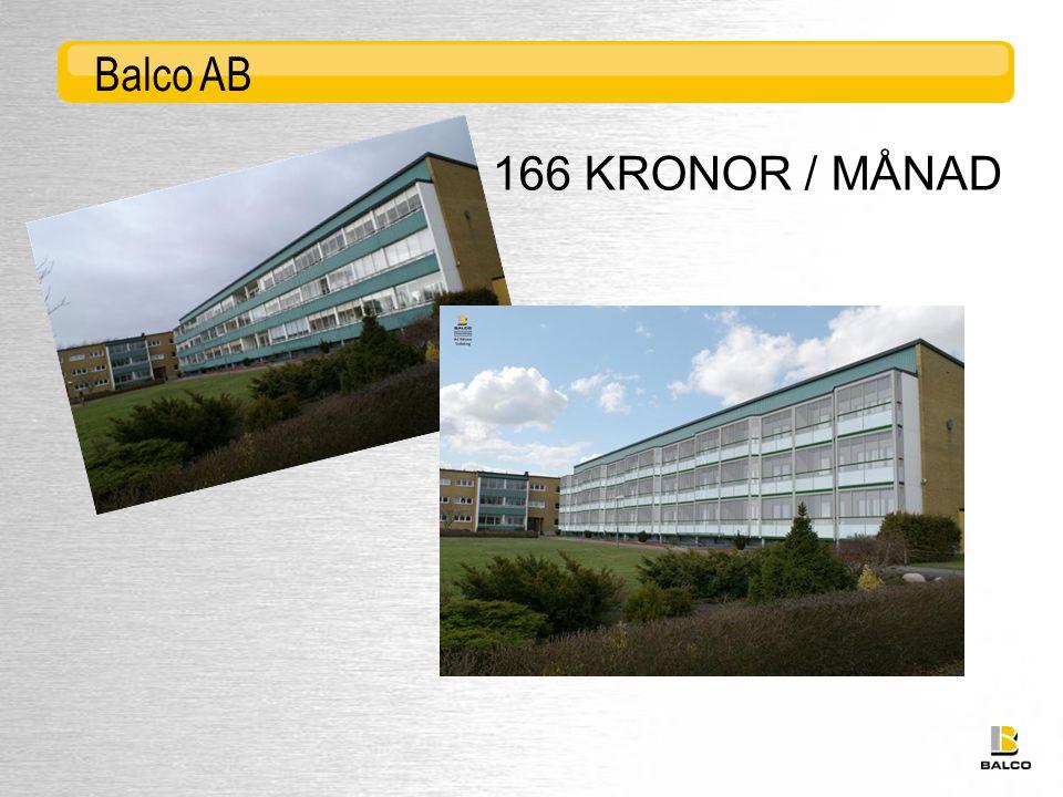 166 KRONOR / MÅNAD Balco AB