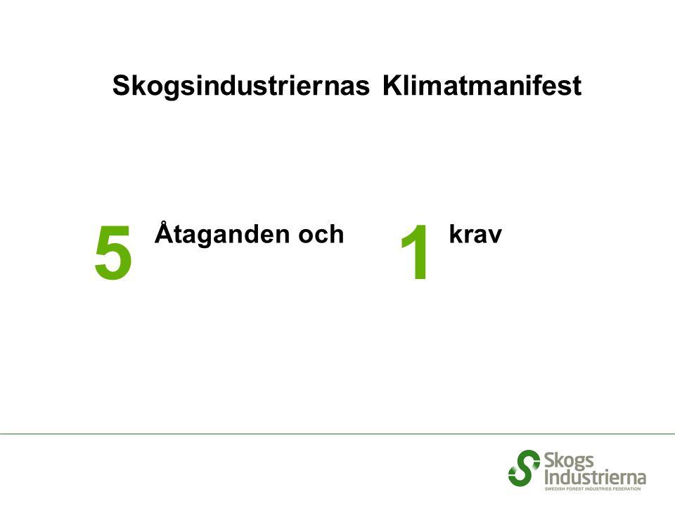 1 Åtaganden ochkrav Skogsindustriernas Klimatmanifest 5