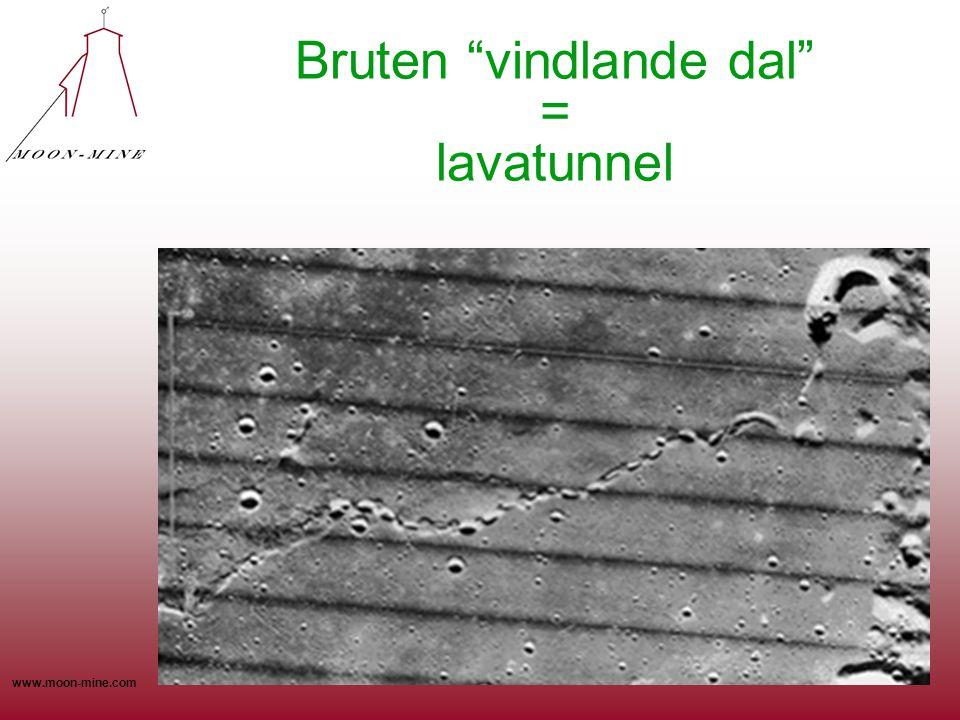 "www.moon-mine.com Bruten ""vindlande dal"" = lavatunnel"