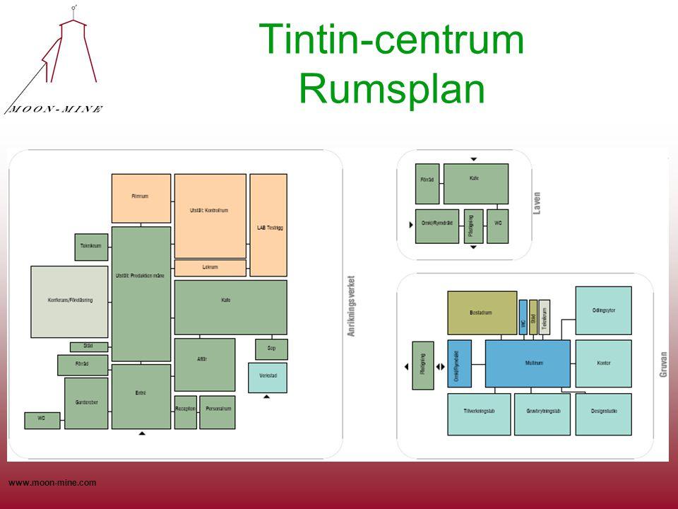 www.moon-mine.com Tintin-centrum Rumsplan