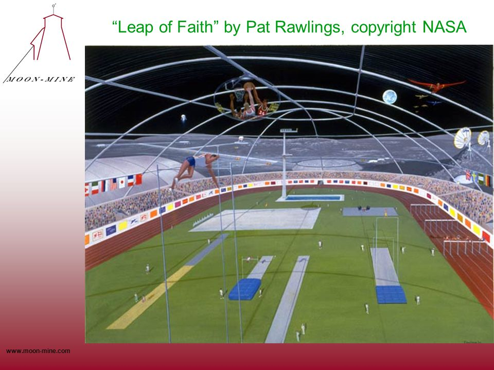 "www.moon-mine.com ""Leap of Faith"" by Pat Rawlings, copyright NASA"
