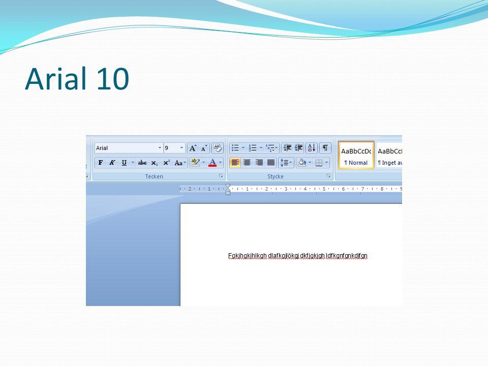Tabeller  Använd tabeller när det behövs, t.ex.