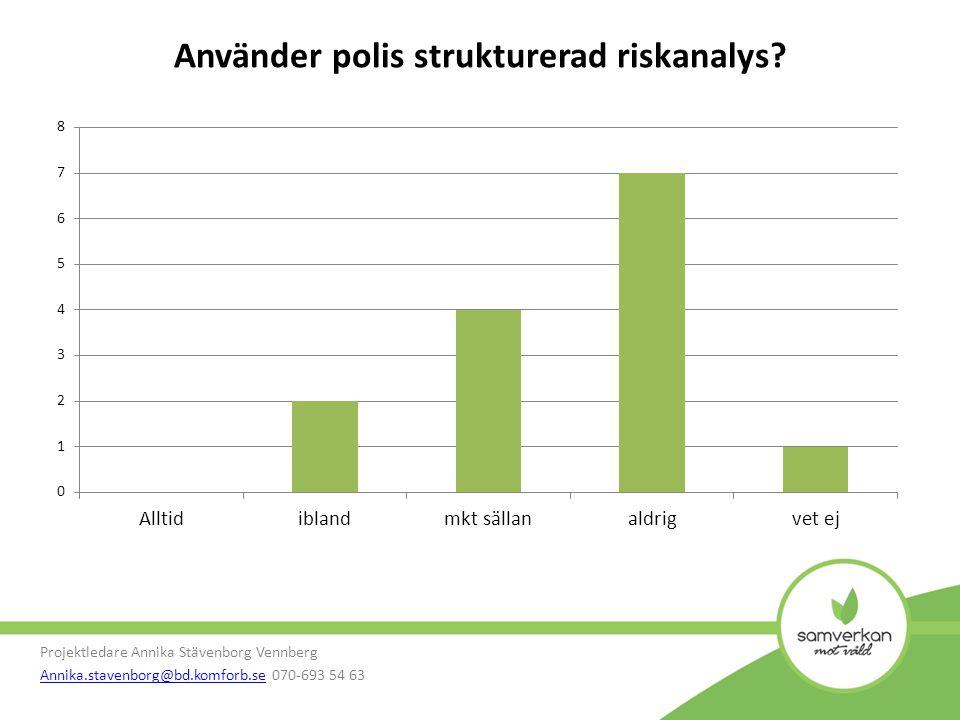 Använder polis strukturerad riskanalys.