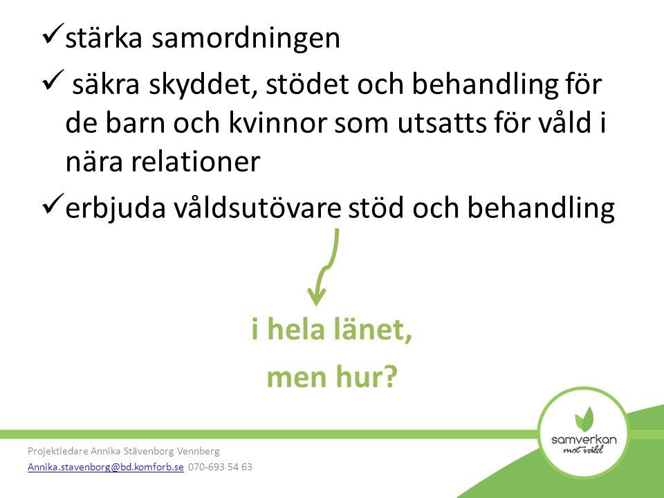 Webbportal Projektledare Annika Stävenborg Vennberg Annika.stavenborg@bd.komforb.seAnnika.stavenborg@bd.komforb.se 070-693 54 63