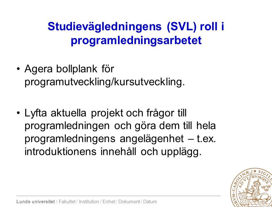 Lunds universitet / Fakultet / Institution / Enhet / Dokument / Datum Phös- fadderutbildning •REFLEKTION över sin roll som phös •Kamratstöd •Rollspel •Värderingsövningar