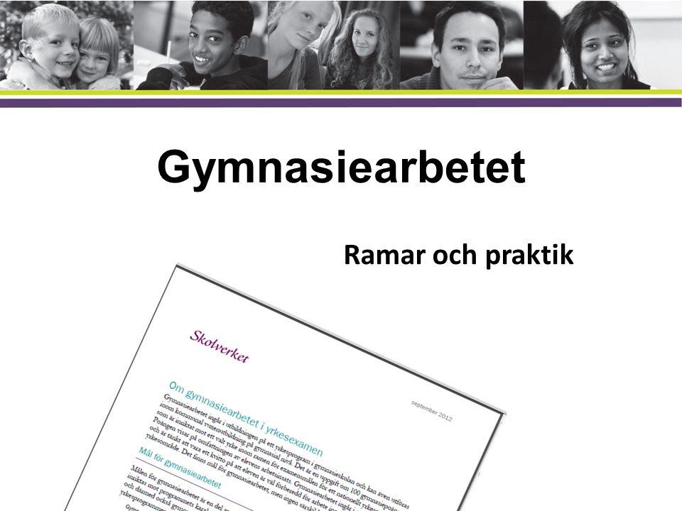 Gymnasiearbetet Ramar och praktik