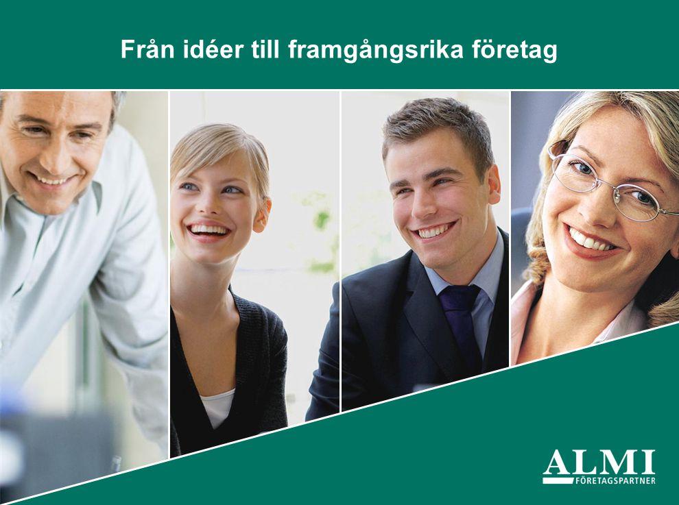 Almi Företagspartner AB • 40 kontor över hela landet med 450 medarbetare.