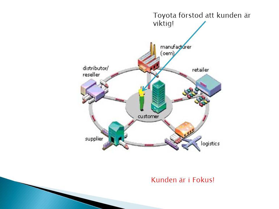 Toyota förstod att kunden är viktig! Kunden är i Fokus!