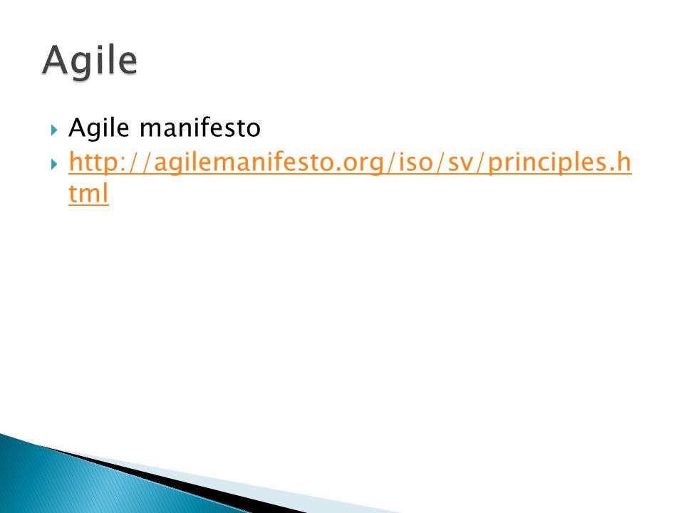  Agile manifesto  http://agilemanifesto.org/iso/sv/principles.h tml http://agilemanifesto.org/iso/sv/principles.h tml