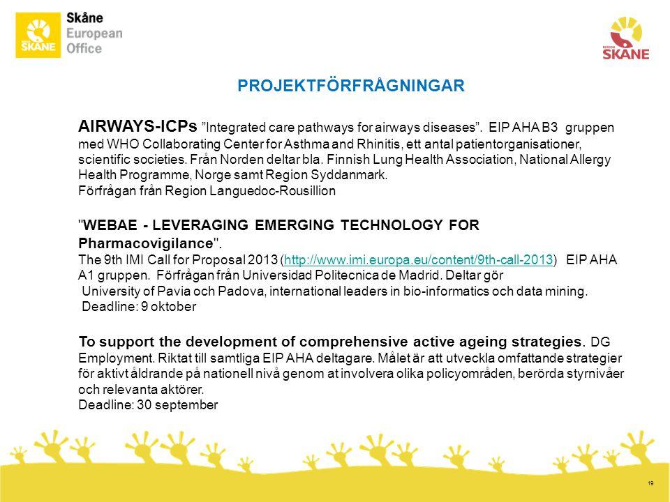 19 PROJEKTFÖRFRÅGNINGAR AIRWAYS-ICPs Integrated care pathways for airways diseases .