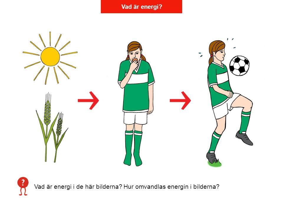 Vad är energi? Vad är energi i de här bilderna? Hur omvandlas energin i bilderna?
