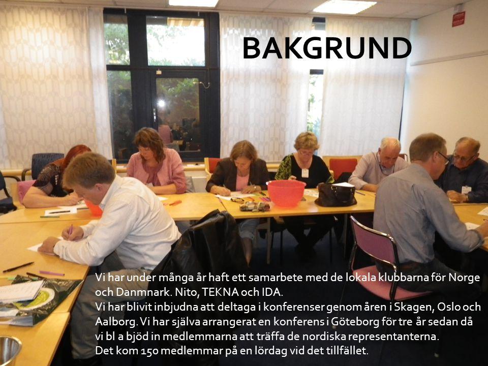 Vi har under många år haft ett samarbete med de lokala klubbarna för Norge och Danmnark. Nito, TEKNA och IDA. Vi har blivit inbjudna att deltaga i kon