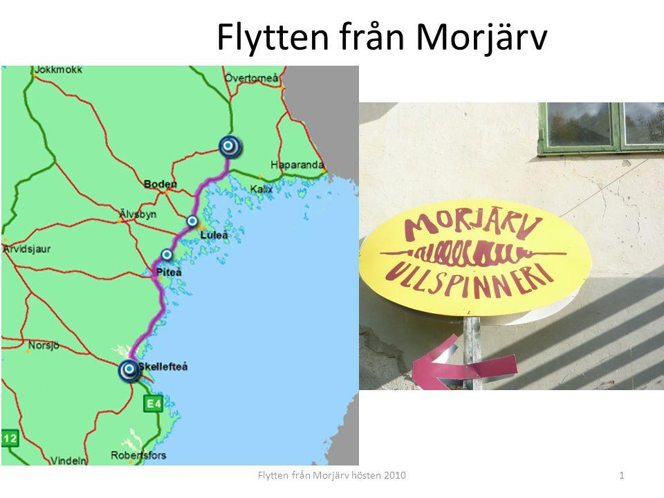 Morjärvs Ullspinneri 1947-2010 Flytten från Morjärv hösten 20102