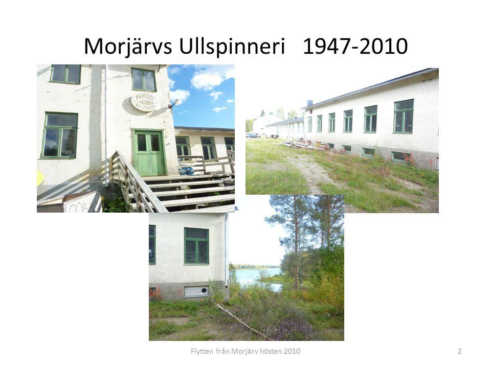 3 Kardverk och spinnerimaskiner står kvar oanvända i Morjärv.