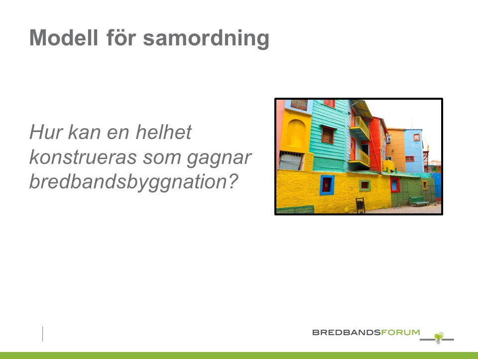 Modell för samordning Hur kan en helhet konstrueras som gagnar bredbandsbyggnation?