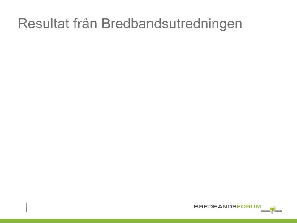 Resultat från Bredbandsutredningen