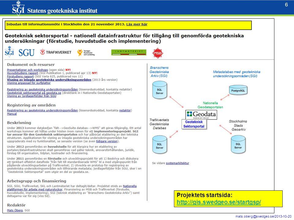 17 mats.oberg@swedgeo.se/2013-10-20 17 Logga in med registerat username/password.