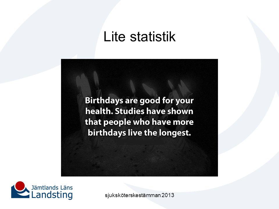 Lite statistik sjuksköterskestämman 2013