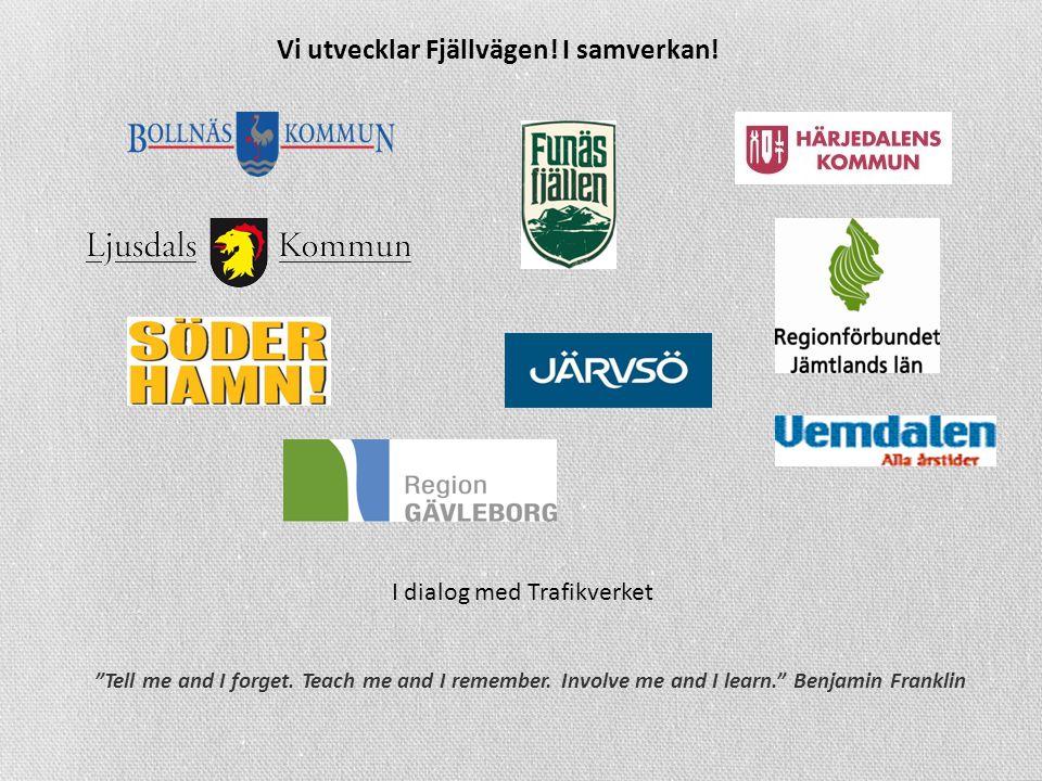 Vi utvecklar Fjällvägen. I samverkan. Tell me and I forget.