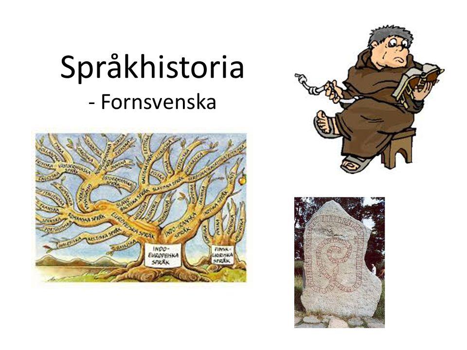 Språkhistoria - Fornsvenska