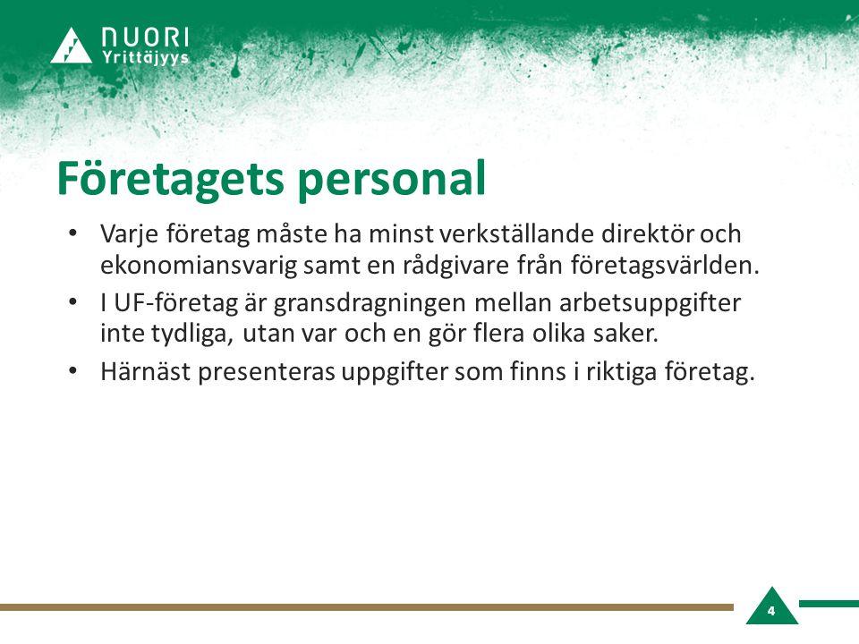 Rådgivare • Rådgivare skaffas från arbetslivet.