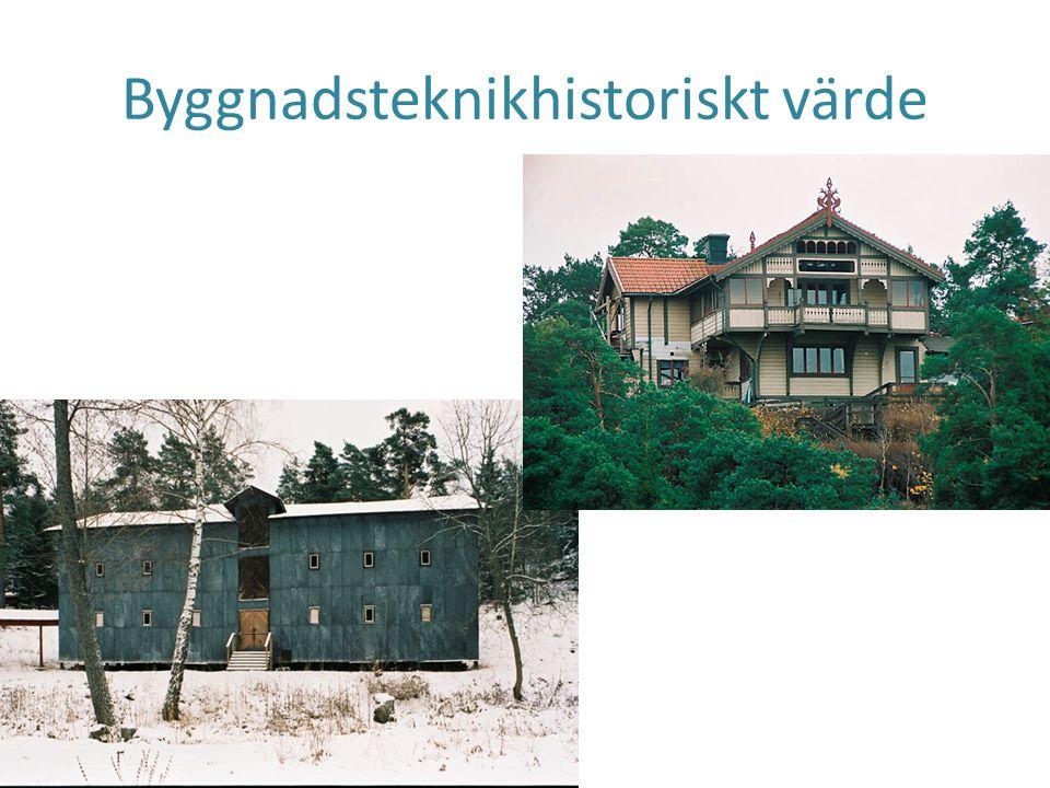 Arkitekturhistoriskt värde