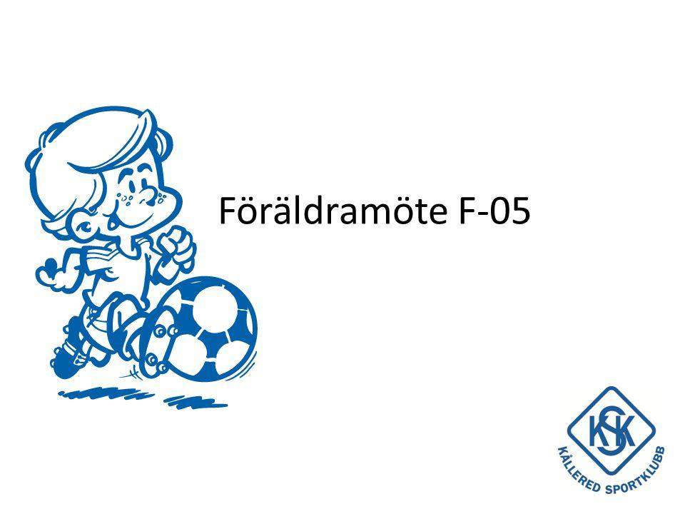 • Information från Lars Rundblom, ordförande i Fotbollsstyrelsen och Maria Magnusson, ansvarig Fotbollsskolan • Tränare och roller • Vision och Mål • Träning och match • Cuper • Medlemsavgift och aktivitetsavgift • Föräldrargruppen • Ekonomi • Övriga frågor Agenda