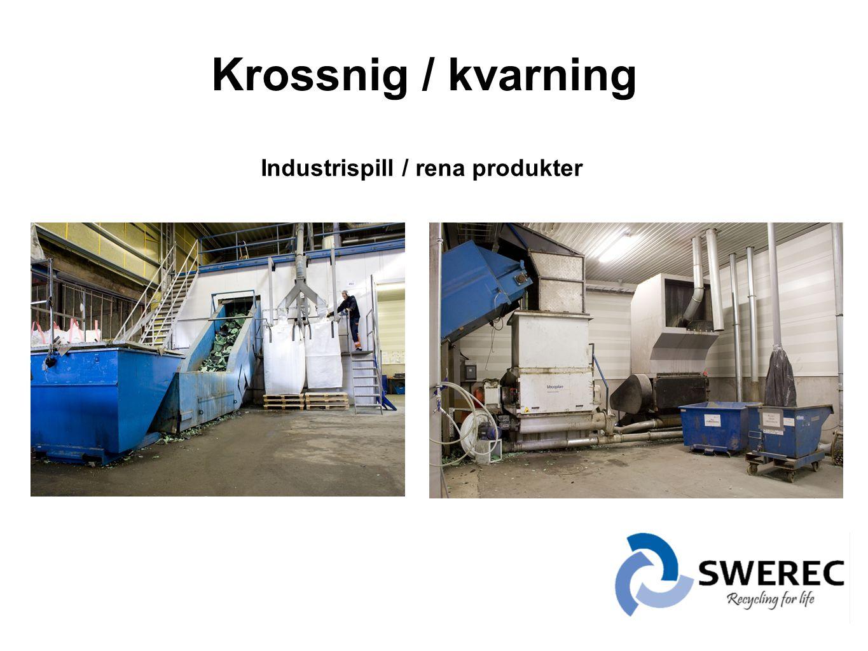 Krossnig / kvarning Industrispill / rena produkter