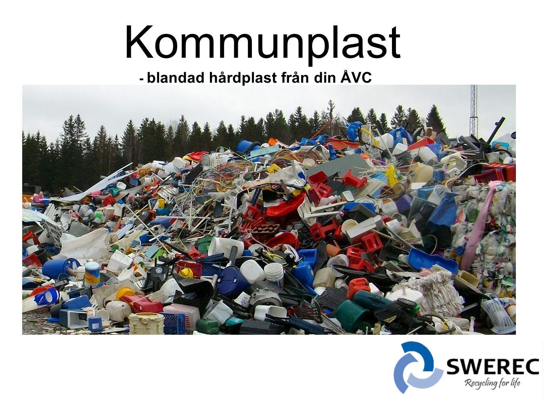 Kommunplast - blandad hårdplast från din ÅVC.
