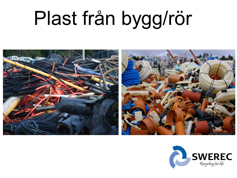 Plast från bygg/rör