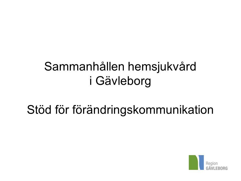 Sammanhållen hemsjukvård i Gävleborg Stöd för förändringskommunikation