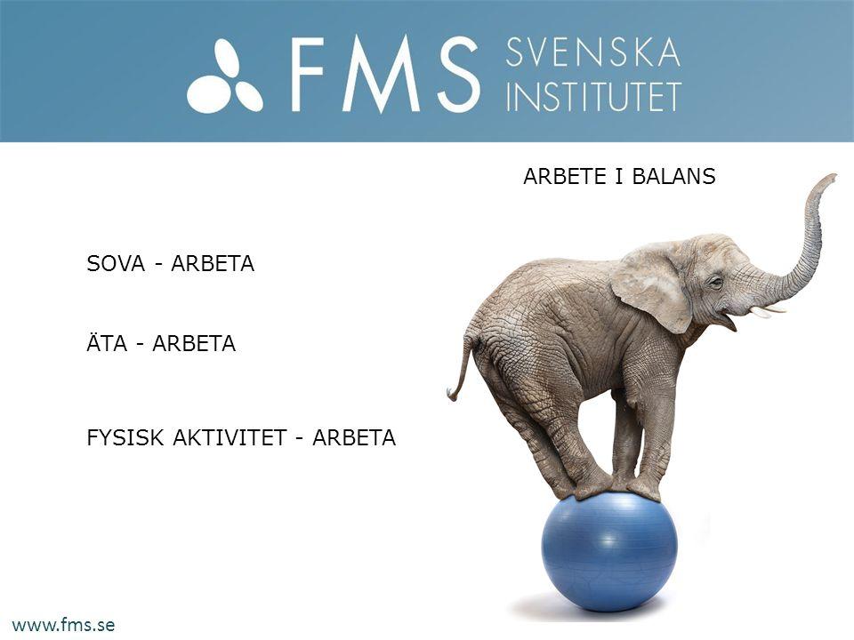 www.fms.se SOVA - ARBETA ÄTA - ARBETA FYSISK AKTIVITET - ARBETA ARBETE I BALANS
