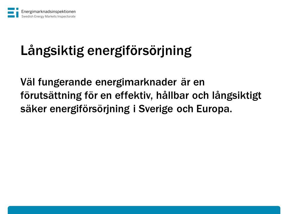 Vårt tillsynsuppdrag • Vi kontrollerar att energiföretag följer gällande regler.