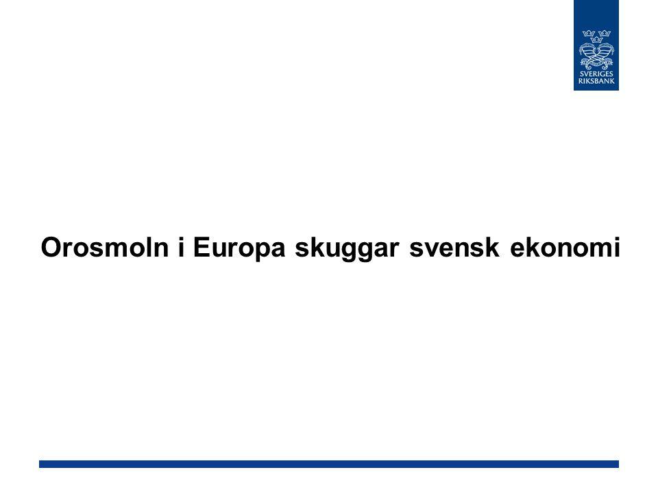 Orosmoln i Europa skuggar svensk ekonomi