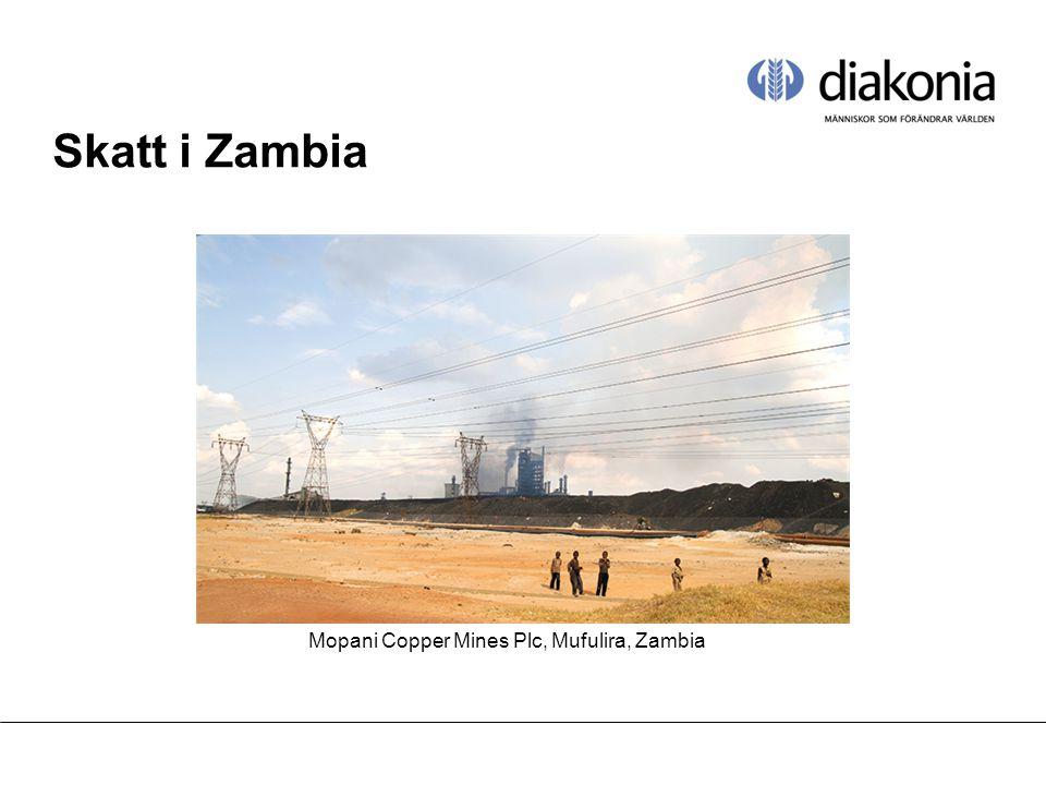 Skatt i Zambia Mopani Copper Mines Plc, Mufulira, Zambia