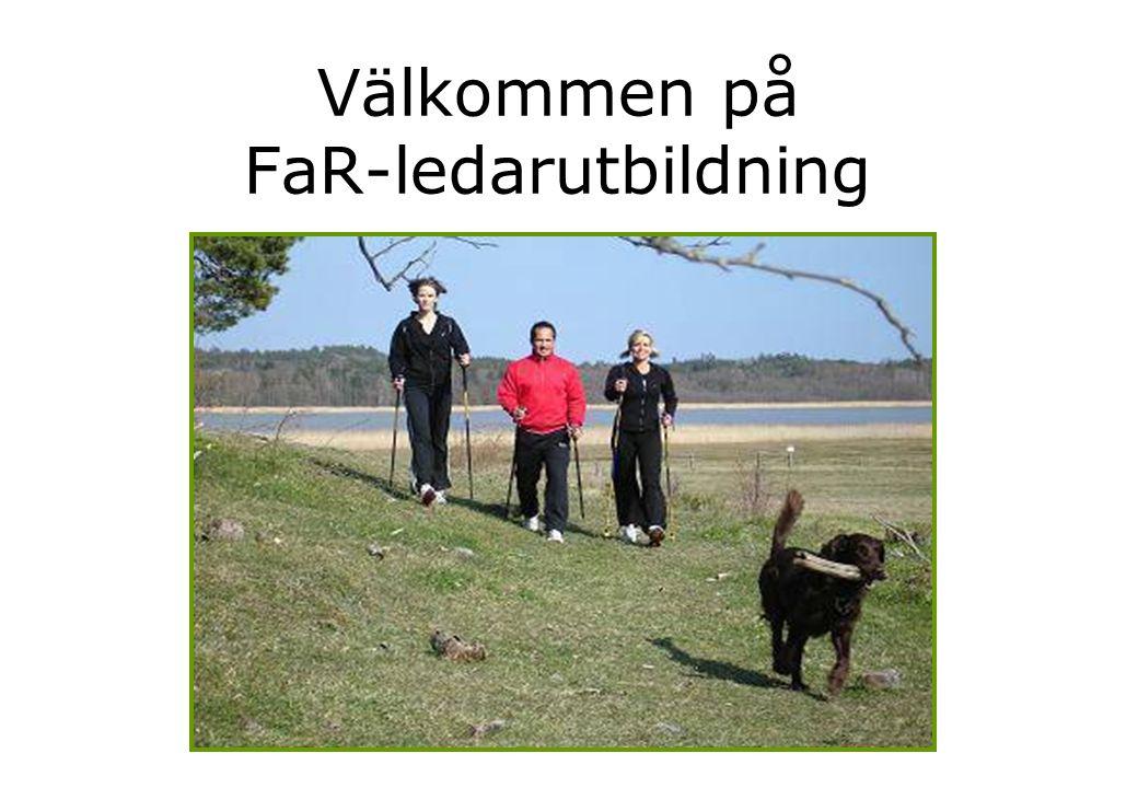 Aktivitetsarrangörer ansvarar för följande • Aktivitetsarrangören erbjuder träning/FaR-aktivitet som är anpassad för personer som fått ett FaR-recept.