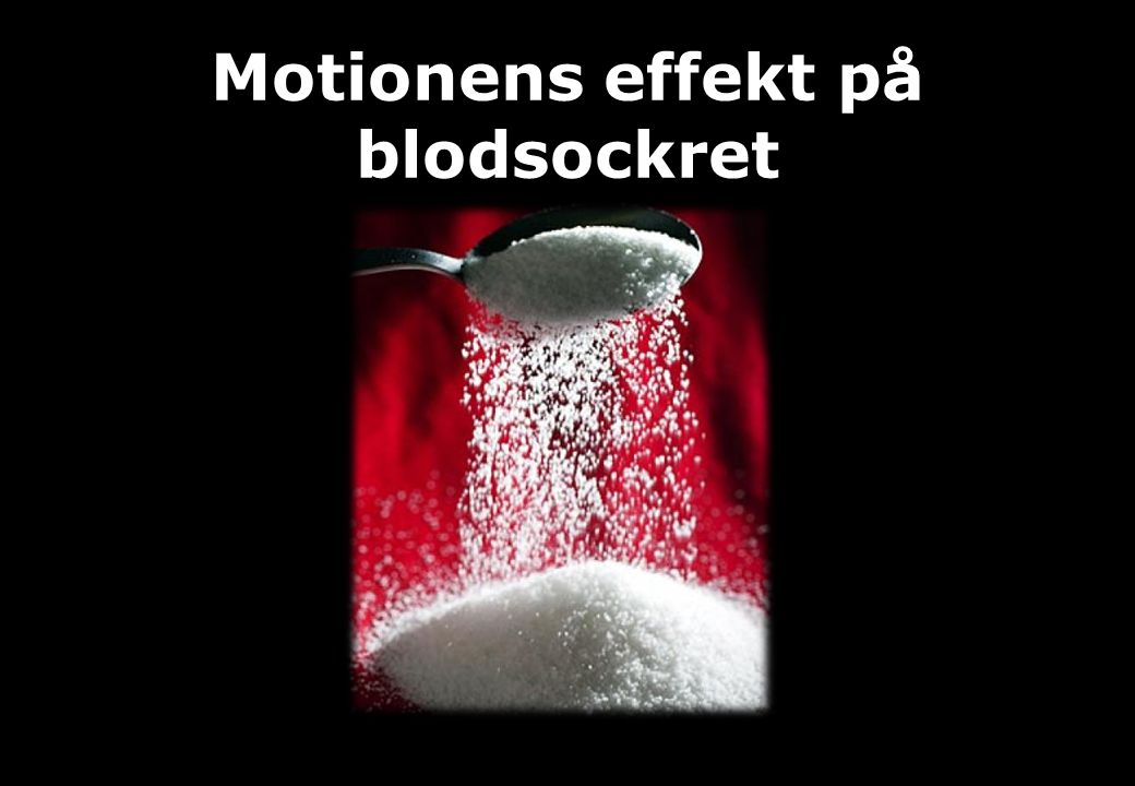 Motionens effekt på blodsockret