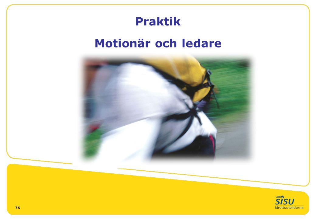 Praktik Motionär och ledare 76