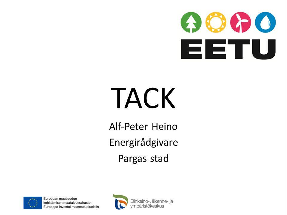 TACK Alf-Peter Heino Energirådgivare Pargas stad