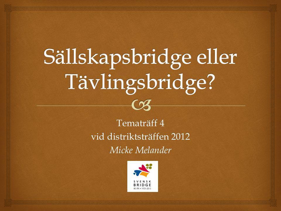 Tematräff 4 vid distriktsträffen 2012 Micke Melander