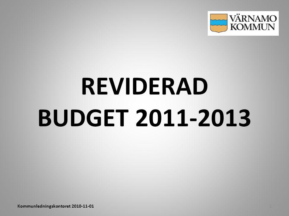 REVIDERAD BUDGET 2011-2013 1Kommunledningskontoret 2010-11-01