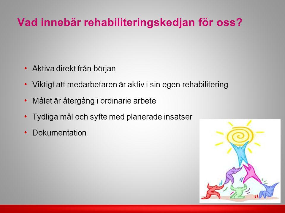 Vad innebär rehabiliteringskedjan för oss.