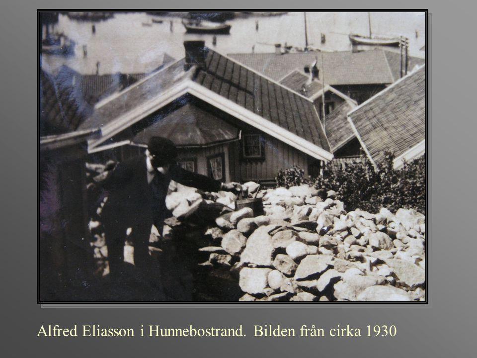 Alfred Eliasson i Hunnebostrand. Bilden från cirka 1930