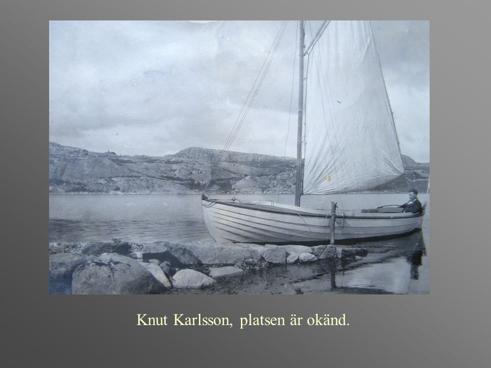 Knut Karlsson, platsen är okänd.
