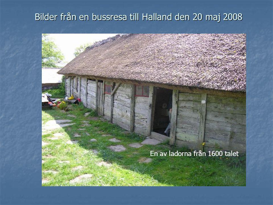Bilder från en bussresa till Halland den 20 maj 2008 En av ladorna från 1600 talet