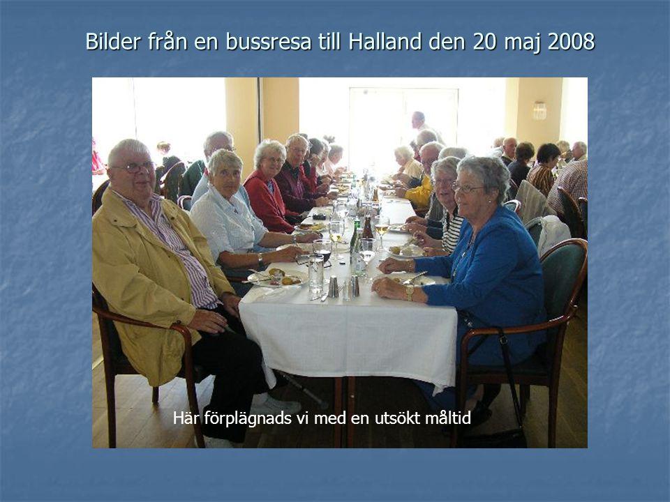 Bilder från en bussresa till Halland den 20 maj 2008 Här förplägnads vi med en utsökt måltid