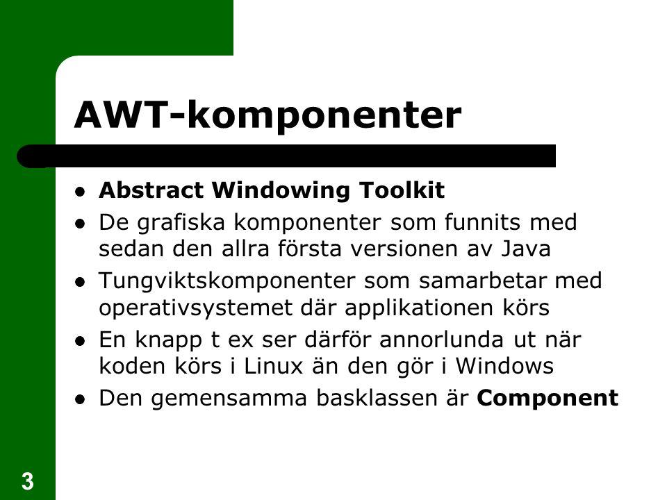 4 AWT-komponenter