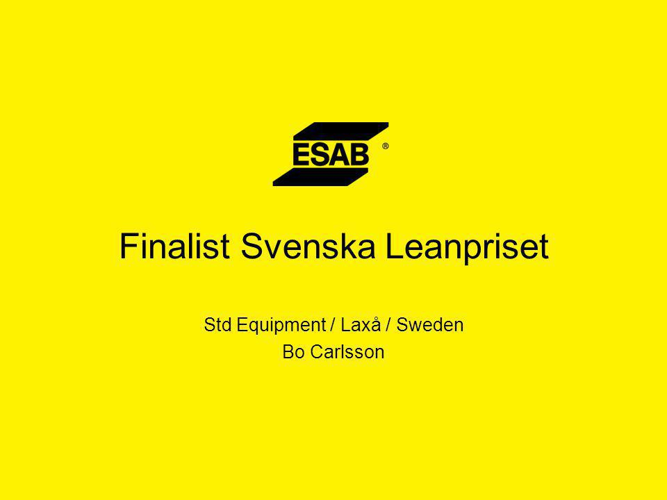 Finalist Svenska Leanpriset Std Equipment / Laxå / Sweden Bo Carlsson
