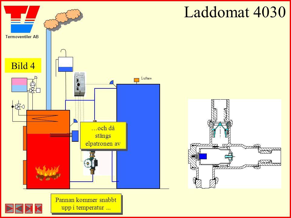 Termoventiler AB Laddomat 4030 Luftare Pannan kommer snabbt upp i temperatur... Pannan kommer snabbt upp i temperatur... …och då stängs elpatronen av
